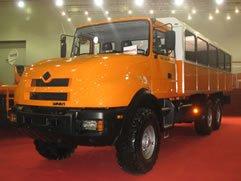 Грузовой внедорожный вахтовый автобус Урал-3255-48 - лучший специальный автомобиль выставки ИнтерАвто-2007.