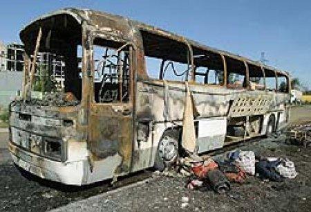 Автобус с пассажирами загорелся сегодня в центре Екатеринбурга