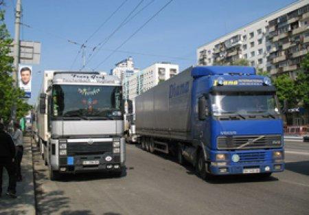 Масштабная акция протеста грузовиков в Киеве