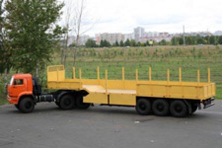 КАМАЗ-65221 и шесть моделей полуприцепов